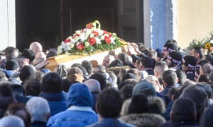 The funeral of Daniele Belardinelli (Dede) killed in a clash Between Inter and Napoli fans