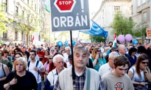 protest April Budapest Hungarian prime minister Viktor Orbán