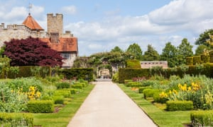 A view of the gardens at Penshurst Place, Kent.