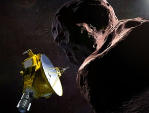 Artist's impression of the New Horizons spacecraft encountering Ultima Thule
