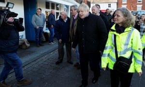 Johnson visits Bewdley to see recovery efforts following the recent flooding