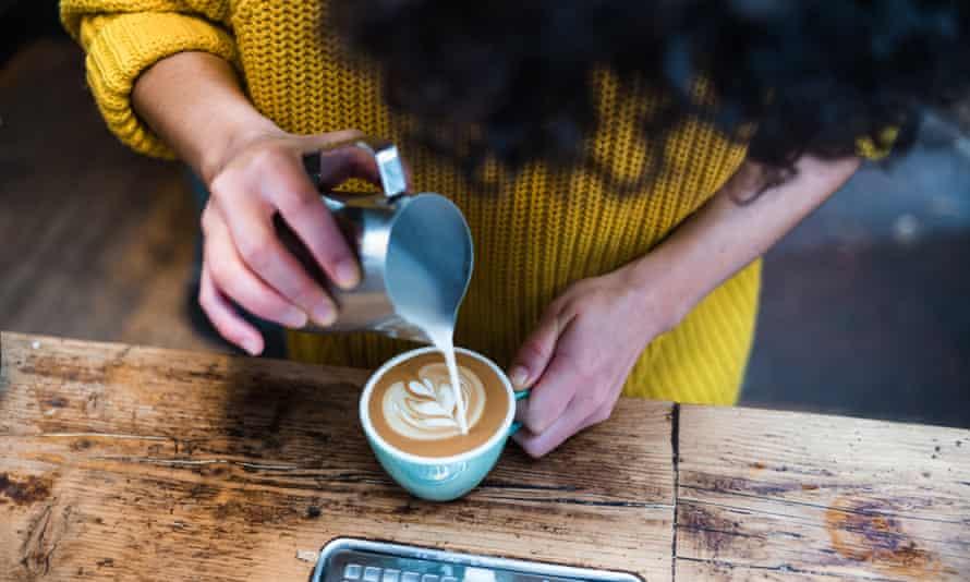 Give it a whirl: a barista at work at Edinburgh's Artisan Roast.