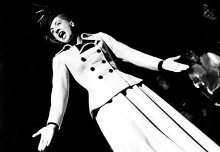 'I can't get in trouble up here' … LuPone as Evita in 1979.