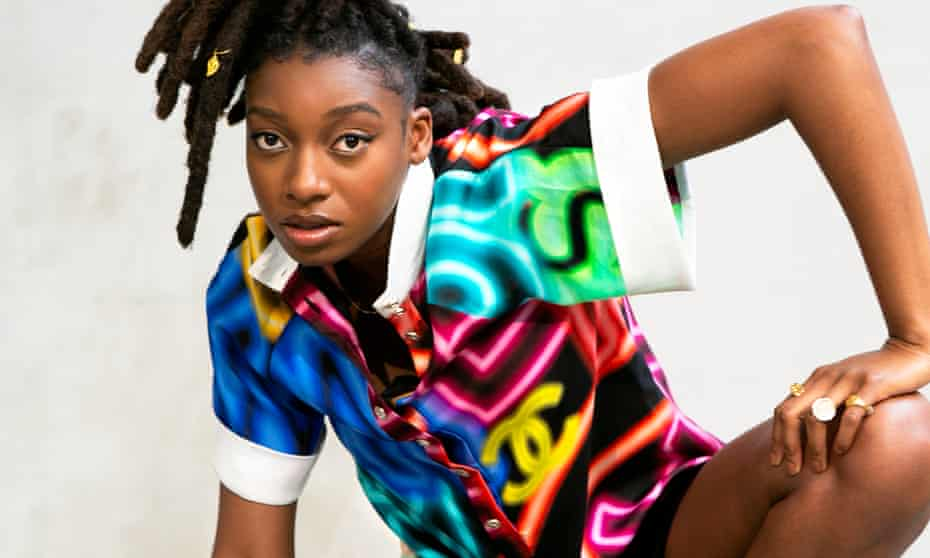 Right on track: Little Simz wears shirt and shorts, both by chanel.com.