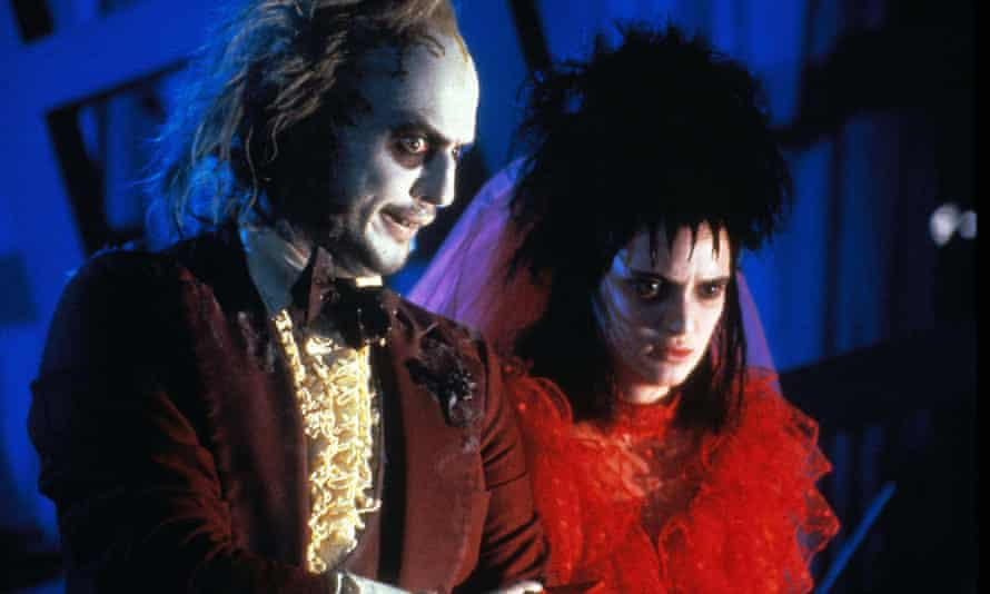 Michael Keaton and Winona Ryder in Beetlejuice