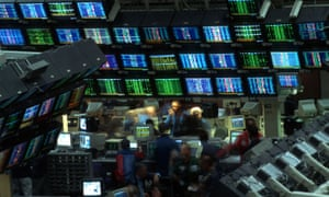 a financial trading floor