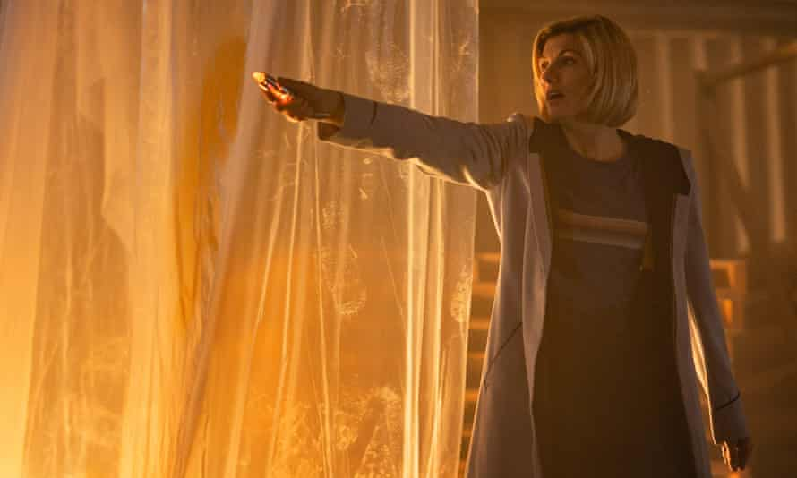 Now, and it has taken a while, the Doctor is truly back in business … Jodie Whittaker as the Doctor.