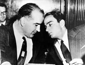 Joseph McCarthy, left, and Roy Cohn in 1953.