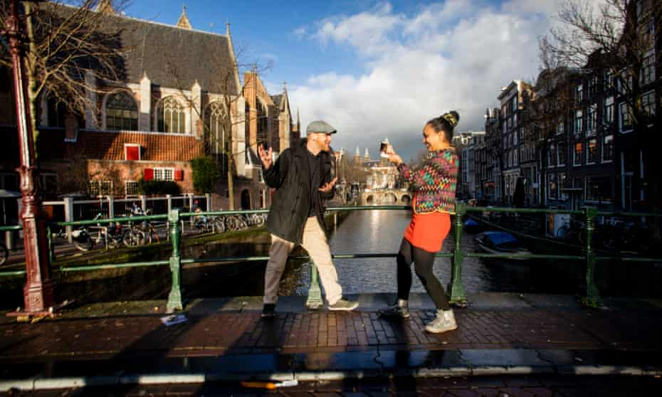 Husband and wife team Ian and Salomé offer weekly virtual tours of Amsterdam.