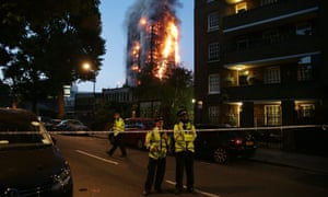 Fire engulfing Grenfell Tower