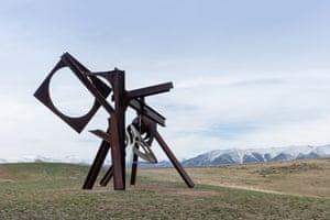 Mark di Suvero, Beethoven's Quartet, 2003. The second of di Suvero's sculpture, Beethoven's Quarter can be played with mallets, like a steel drum. It is made of steel and stainless steel and is 24ft by 30ft by 23ft.