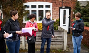 Stephane Savary and team campaigning in Altrincham.