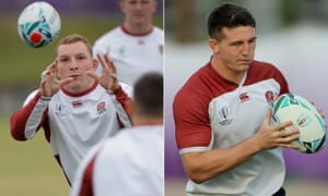 Sam Underhill, left, and Tom Curry, right, have been compared to Richie McCaw and David Pocock by England's defence coach, John Mitchell.