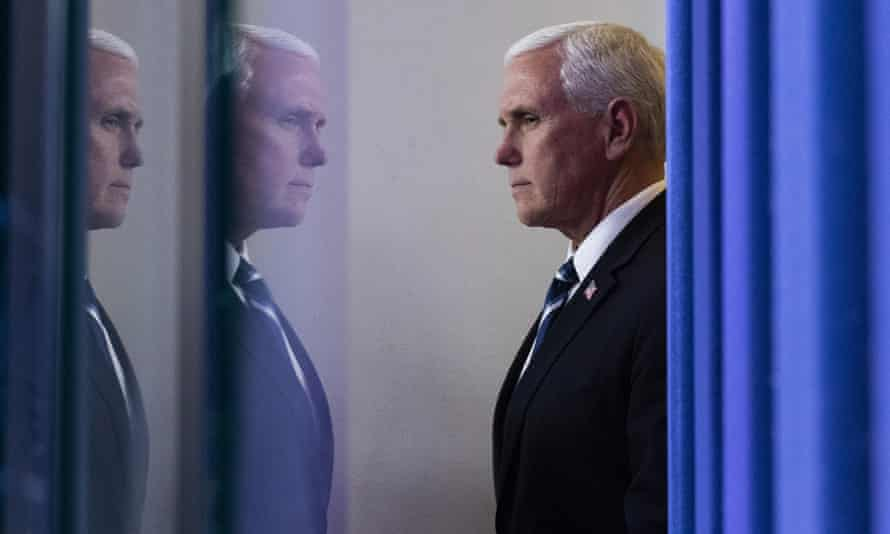 Mike Pence at Friday's briefing.