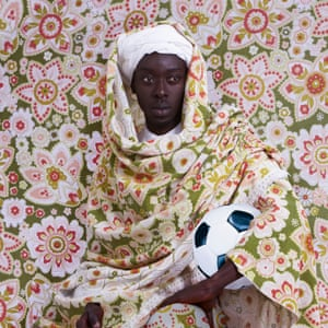 A Moroccan man, 1913'When you look at the way that the African football royalty is perceived in Europe,' says Diop, 'there is an interesting blend of glory, hero-worship and exclusion. Every so often, you get racist chants or banana skins thrown on the pitch and the whole illusion of integration is shattered in the most brutal way. It's that kind of paradox I am investigating in the work.'