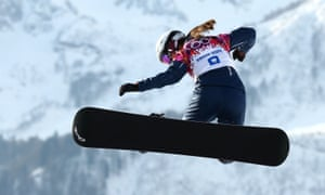 Great Britain's Zoe Gillings competes in the Snowboard Cross at the Sochi Games