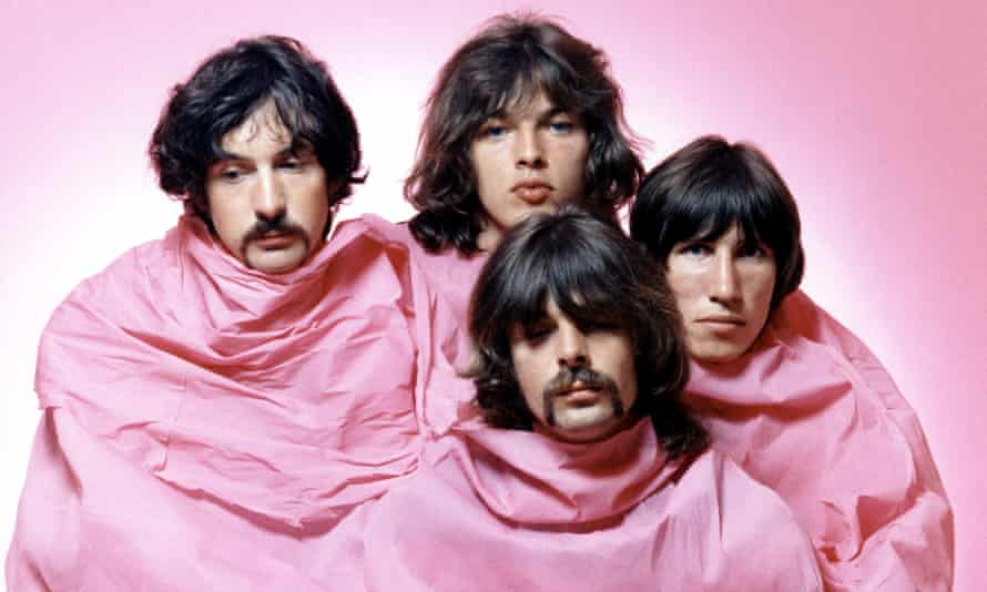 Never really relaxed … Pink Floyd in 1968, (from left) Nick Mason, David Gilmour, Rick Wright and Roger Waters.