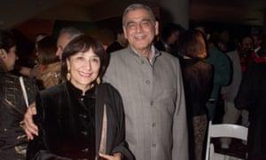 Jaffrey with Ismail Merchant in 2001.