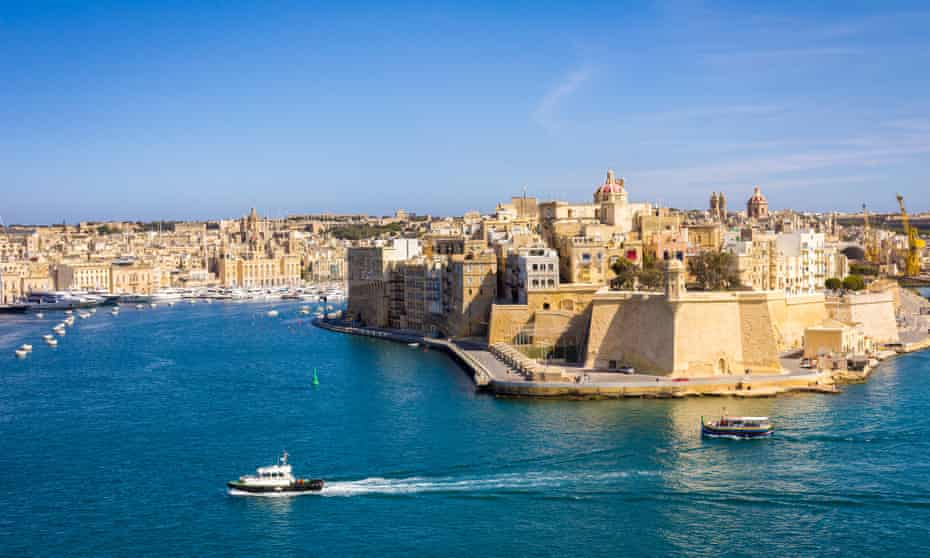 View of the city of Paola from Valletta