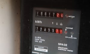 A domestic household electricity meter.