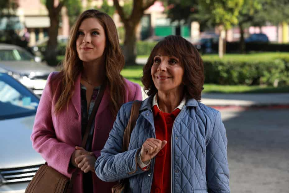 'Martin lunges at her role and boots it to a steaming pulp' … Andrea Martin as Carol (right), with Briga Heelan as Katie in Great News.