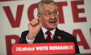 Hilary Benn campaigning for remain in June.
