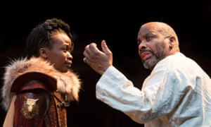 Pepter Lunkuse as Cordelia and Don Warrington as King Lear at the Royal Exchange Theatre in Manchester.