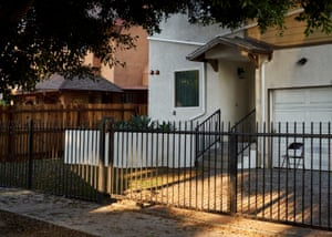 The transitional home in South Los Angeles where Roderick Thompson is living temporarily.