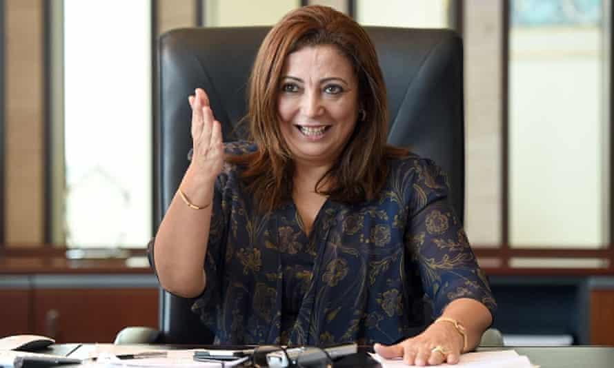 President of the Tunisian employers union (Utica) Wided Bouchamaoui.