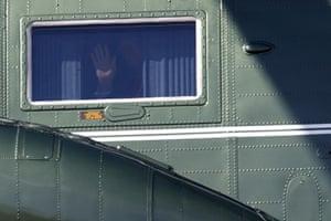 Maryland, USA President Trump waves