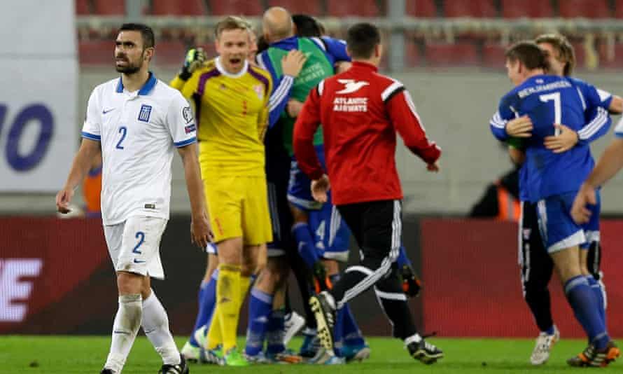 Greece lose 1-0 to the Faroe Islands back in 2014.