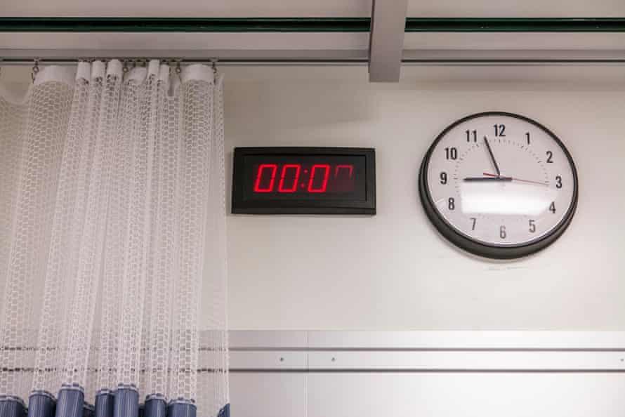 Clocks in hospital room.