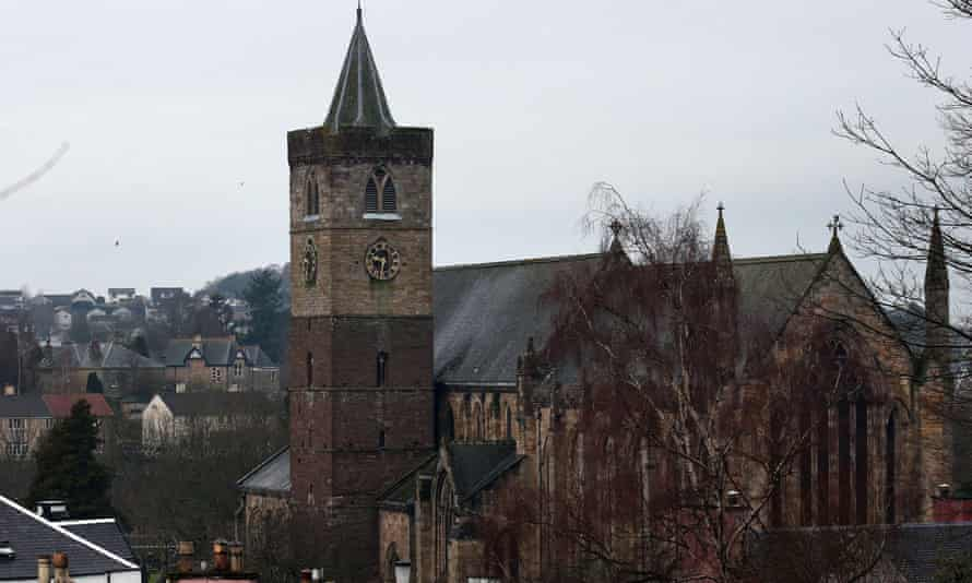 'It wasn't there, then it was / all around the house' … a general view of Dunblane Cathedral.