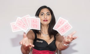 Goldie Puricelli performs a unique form of conjuring combining sleight-of-hand with British Sign Language.