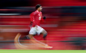 Manchester United's Marcus Rashford in action.