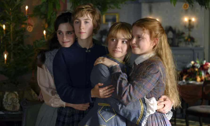 Emma Watson, Saoirse Ronan, Florence Pugh and Eliza Scanlen play the March sisters in Little Women.