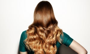 Woman with long, shiny hair