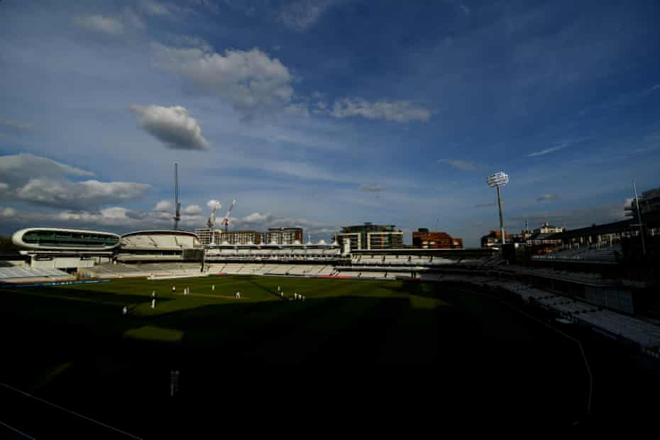 A look over Lord's during the match.