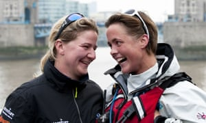 Sarah Outen and partner Lucy