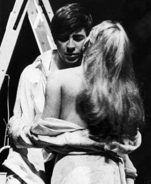 The Four Seasons - 1965. Alan Bates and Diane Cilento at the Saville Theatre, London
