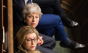 Theresa May and Amber Rudd in the House of Commons