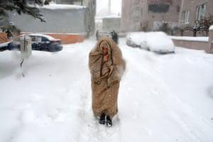Erzurum, Turkey: Residents brave the cold