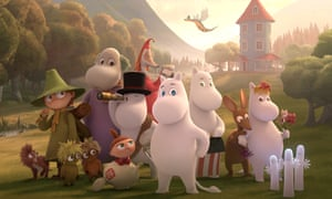 The Moomin family and friends