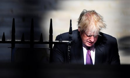 Boris Johnson walks to Downing Street in June. The former foreign secretary has sparked outrage with a column comparing Muslim women wearing the burqa to letterboxes or bank robbers.