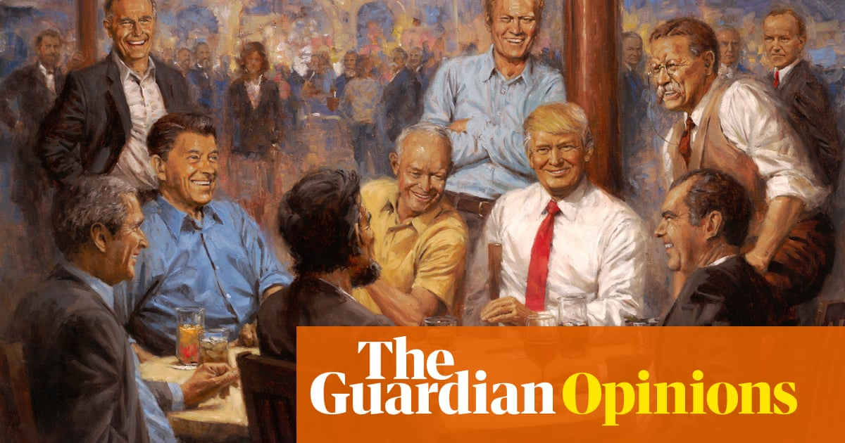 All the president's men: what to make of Trump's bizarre new painting