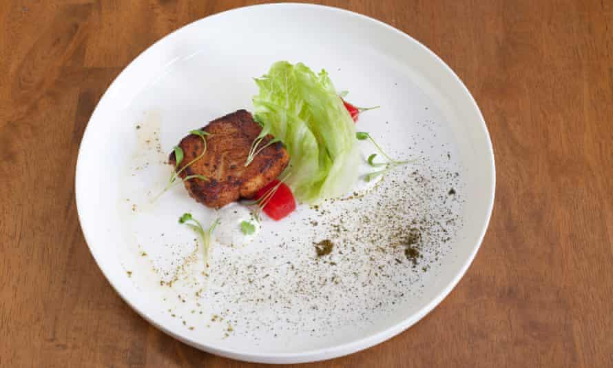 'A brave and brilliant dish': jerk spiced hake.