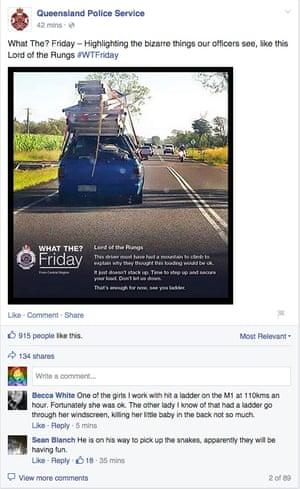 Queensland Police Service 'What the Friday?' Facebook post