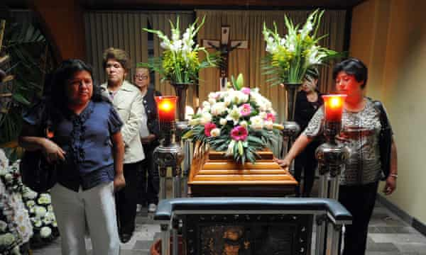 The funeral of Regina Martínez in 2012. Rubén Espinosa, the photographer who took this picture, was himself murdered in 2015.