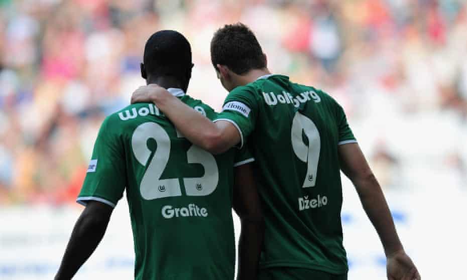 Edin Dzeko and Grafite scored 82% of Wolfsburg's goals when they won the Bundesliga in 2008-09.
