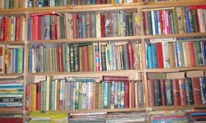 bookshelves in Marcie Muir?s house in Adelaide.